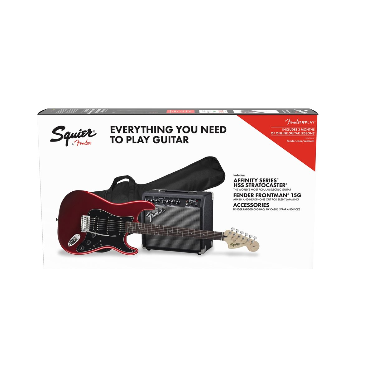 Fender - Affinity Stratocaster Pack HSS - Candy Apple Red