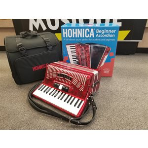 Hohner - 1305-RED, 72 Bass, 34 keys - Rouge