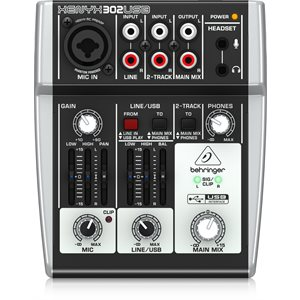 BEHRINGER - 302USB - 5-Input Mixer with USB / Audio Interface