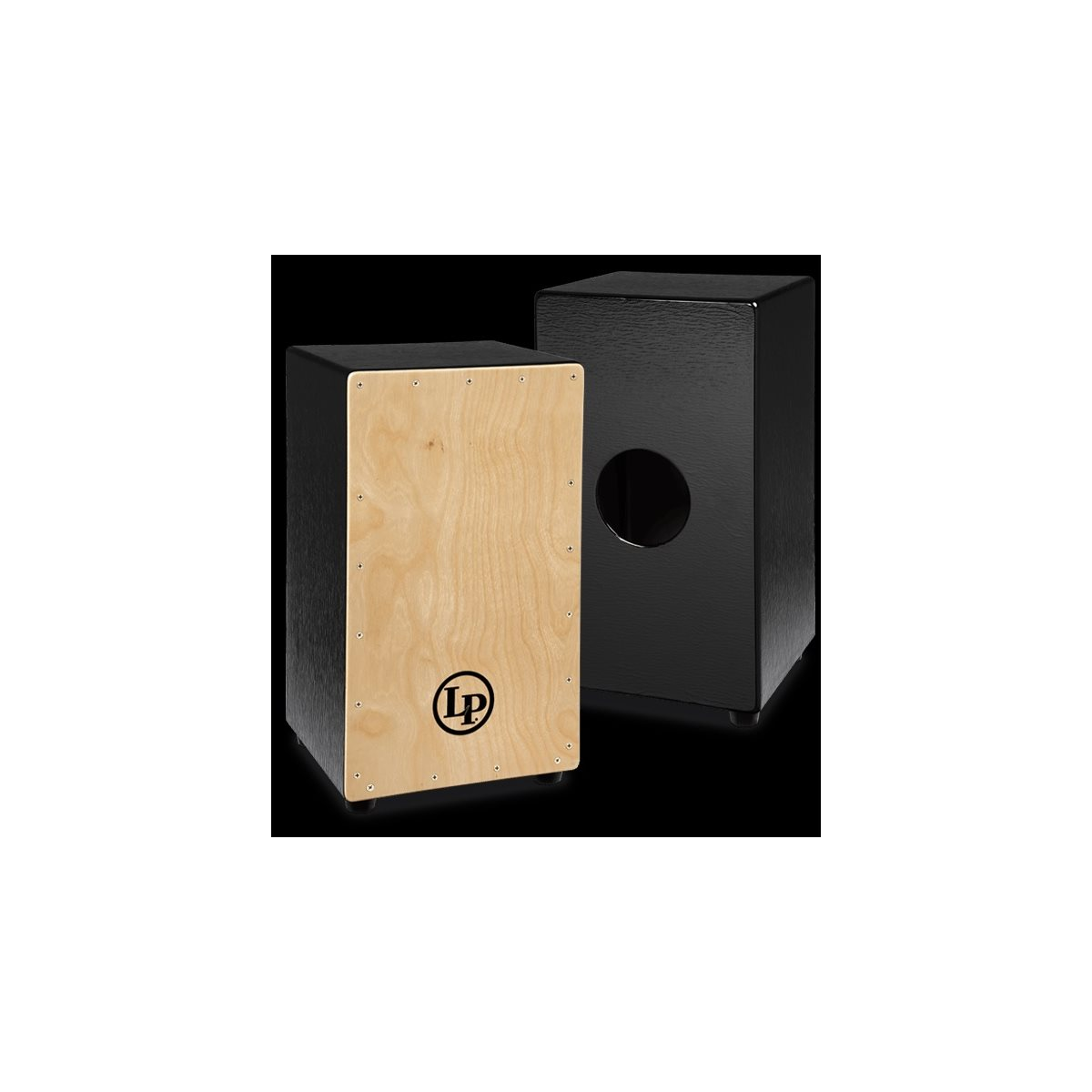LP - LP1428NYN - BLACK BOX WIRE CAJON WITH NATURAL FACEPLATE