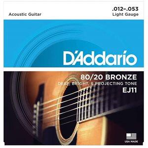 D'ADDARIO - EJ11 - Regular Light Set - 12-53