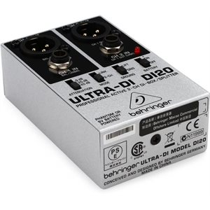 BEHRINGER - DI20 - Active 2-Channel DI-Box / Splitter