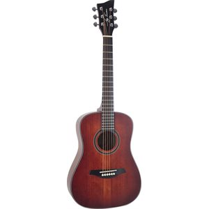 JAY TURSER - JTA52 - 1 / 2 SIZE DREADNOUGHT - SATIN FINISH - RED