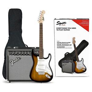 FENDER - Strat Pack w / 10G Amp - Gigbag & Accessories - Brown Sunburst