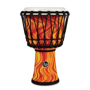 LP - LP1607OM - 7-INCH ROPE TUNED CIRCLE DJEMBE WITH PERFECT-PITCH HEAD - Orange Marble