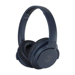 AUDIO TECHNICA - ATH-ANC500BTBK - QuietPoint Wireless Active Noise-Cancelling Headphones