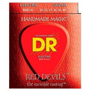 DR - RDE-10 - RED DEVILS RED Colored Medium Electric Guitar Strings-Gauge - 10-46