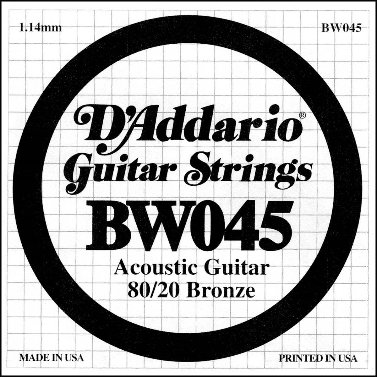D'ADDARIO - BW045 - acoustic guitar string .45
