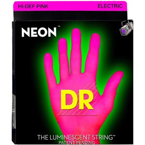 DR - NPE10 - Hi-Def Neon Pink K3 Coated Nickel Plated Electric Guitar Strings-Medium - 10-46