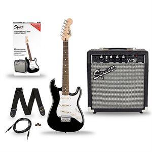 FENDER - Strat Pack w / 10G Amp, Gigbag & Accessories - Black