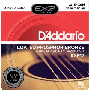 D'ADDARIO - EXP17 - Coated Phosphor Bronze Medium Acoustic Strings - 13-56