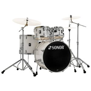 SONOR - AQ1 Stage 5-Piece Drum Kit, w / Hardware - Piano White