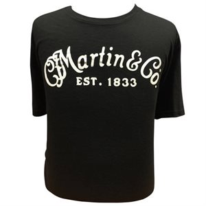 MARTIN - Classic Logo T-shirt - MEDIUM - BLACK