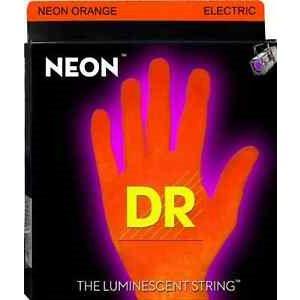 DR - NOE10 - NEON Hi-Def Orange Coated Electric Strings-Medium - 10-46
